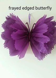 Bebé boda pompones de papel de seda decoraciones mariposa ducha cumpleaños del partido   eBay:
