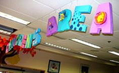 3-D letters for the Children's area in my library.  2-D is so last century.