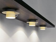 coffee cup lights: love this idea for a breakfast room designed like a cafe :)