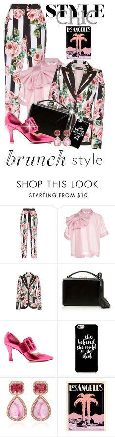 """LA Style"" by shamrockclover ❤ liked on Polyvore featuring Dolce&Gabbana, Dice Kayek, Mark Cross, Attico, Caso and Dana Rebecca Designs"