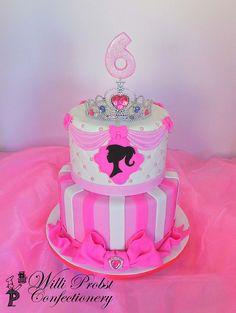 Princess Barbie themed birthday cake