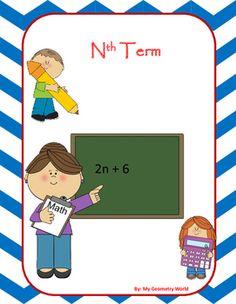 Geometry worksheet covering: Nth Term