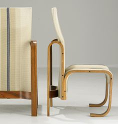 Jan Bocan; Bent Rosewood Side Chair for the Czech Embassy in Stockholm, 1972.