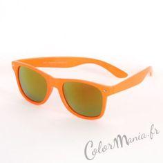 Lunettes type Wayfarer Translucides Orange Acidulé - Verres Pétrole   Color-Mania (http://www.color-mania.fr/boutique/lunettes-type-wayfarer-translucides-orange-acidule-verres-petrole/)