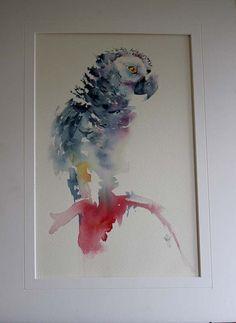Watercolours With Life: World of Watercolour Exhibition 2015 : Parrot in Watercolour