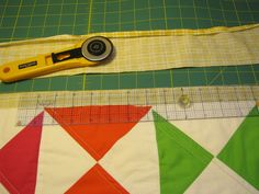Cheater Quilt Binding from quilt backing - discovered this technique myself - but only this year!