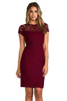 #REVOLVEclothing. Susana Monaco dress in oxblood.