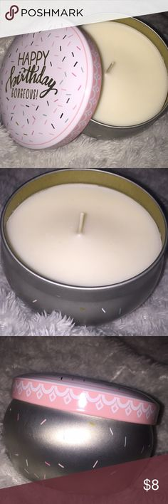 Happy Birthday candle from Francesca's! Vanilla scented! Never used! Francesca's Collections Other