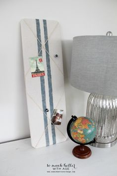DIY Grain Sack Bulletin Board | So Much Better With Age