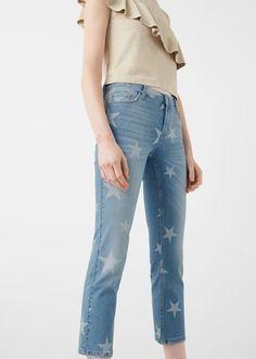 Kısa paçalı relaxed star jean pantolon - Jeans - Kadın   OUTLET Türkiye