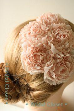pink wedding cap