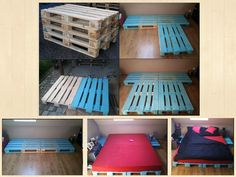 DIY bed with pallets