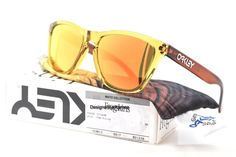 OAKLEY OO9013-38 Frogskin Moto Nitrus W/24K Irid Mirrored Sunglasses NWC AUTH #Oakley #Sport