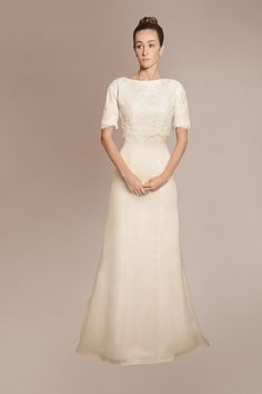 Not my favorite dress, but I like the way the lace is applied only on the bodice