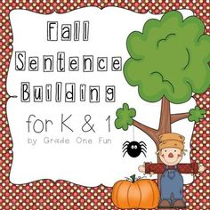 Fall Sentence Building for Kindergarten and First Grade $TPT