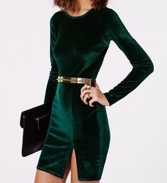Party Clothes Casual - 35 Casual Christmas Party Outfits Ideas to Wear Right Now Looks Party, Velvet Bodycon Dress, Looks Style, Mode Style, Holiday Outfits, Look Fashion, Party Fashion, Fashion Outfits, Dress To Impress