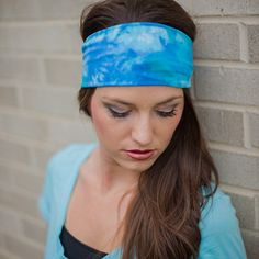 Women's Stretchy Blue Headband ... Perfect Wide Stretch Yoga Headbands for Women! http://stylishmode.com/womens-blue-stretchy-fabric-headband