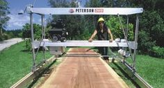 Dedicated Wide Chainsaw Slabber - Peterson Portable Sawmills