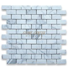 Calacatta Gold Italian Calcutta Marble Subway Brick Mosaic Tile 1 x 2 Honed