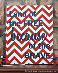 love this but I would probably do blue chevron and red letters to make it pop.