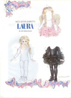 Laura paper doll
