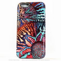 """Abstract Coral iPhone 6 6s TOUGH Case - Colorful """"Cosmic Star Coral"""" Artistic Case For iPhone 6"""
