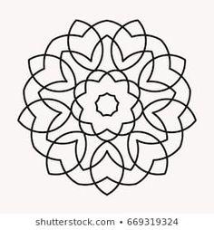Easy mandala, basic and simple mandalas coloring book for