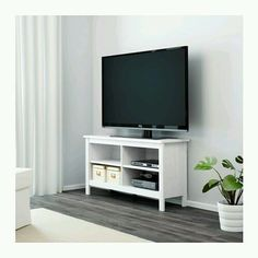 TV Stand White Entertainment Furniture Media Console Center Storage Home Cabinet #IKEA #Traditional