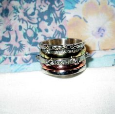 RING   SPINNING   spinner   TRIPLE    Wide  Bands  by MOONCHILD111 https://www.etsy.com/shop/MOONCHILD111