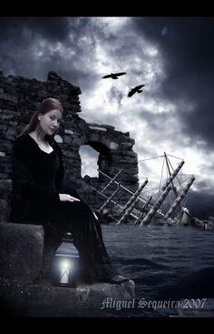 A Light in the Dark Sea by Asgard-Raven.deviantart.com on @deviantART