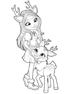 Enchantimals new free printable coloring pages Cute Halloween Coloring Pages, Cute Coloring Pages, Coloring Pages For Girls, Colouring Pics, Disney Coloring Pages, Animal Coloring Pages, Free Printable Coloring Pages, Coloring Books, Free Coloring