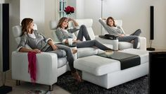 Stressless Space (M) Highback - Home Theater | Recliner chairs and sofas for home theater seating solutions.