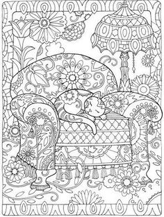 Creative Cats Colouring Book I Marjorie Sarnat