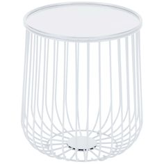 This open wire side table in fresh white will brighten any outdoor setting. Perfect size to perch a cocktail or a good read. Its solid round rimmed top keeps it all together. Built to weather the elements, this table will look great for years to come. Metal Outdoor Side Table, Wire Side Table, Modern Side Table, Side Tables, Outdoor Tables, Metal Patio Furniture, Best Outdoor Furniture, Simple Furniture, Gilbert White