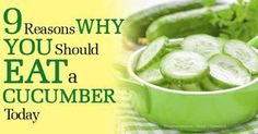 Cucumbers, which belong to the same plant family as pumpkin and watermelon, are made up of 95 percent water, making them an ideal hydrating and cooling food. http://articles.mercola.com/sites/articles/archive/2014/08/23/health-benefits-cucumbers.aspx