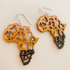 Africa Statement Earrings Africa Map Earrings African