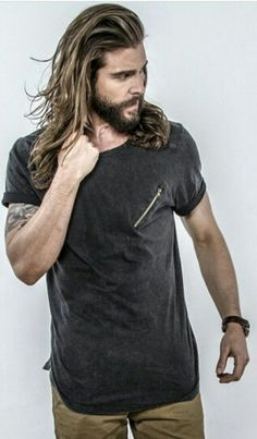 Old Boys, Jack Greystone, Long Hair Beard, Natural Hair Styles, Long Hair Styles, Long Locks, Man Bun, Hairy Chest, Beard Care