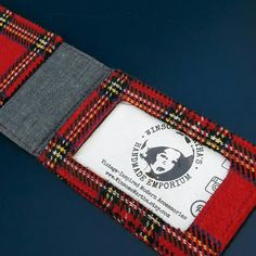 Lovely Scottish red wool tartan wallet