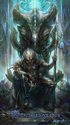 Alien and Predator Alien Vs Predator, Predator Movie, Predator Alien, Predator Series, Arte Alien, Alien Art, Alien Creatures, Fantasy Creatures, Science Fiction