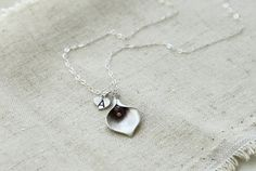Personalized Calla Lilly neclace on sterling by CeciliaJewelry, $20.00