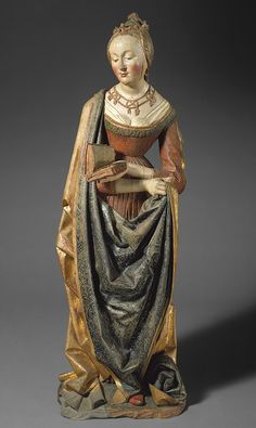Saint Barbara, ca. 1490 German, probably Strasbourg, Alsace (present-day France) Lindenwood and polychromy