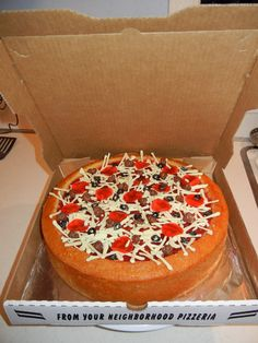 pizza cake to go along with TMNT cake