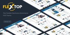 FlexTop - Electronics eCommerce PSD Template - Retail PSD Templates Download here : https://themeforest.net/item/flextop-electronics-ecommerce-psd-template/20569532?s_rank=115&ref=Al-fatih