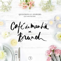 questions and answers - cafe da manha brunch Coffee Break, Question And Answer, This Or That Questions, Bowls, Brunch Wedding, Coffee Cafe, Holidays And Events, Simple Designs, Tablescapes