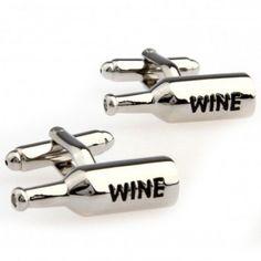 #wine #bottle - #silver #cufflinks #cufflinkspalace