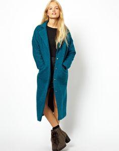 Image 1 ofASOS Textured Maxi Coat