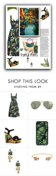 """""""Tropical Prints"""" by emcf3548 ❤ liked on Polyvore featuring Marc Jacobs, Ray-Ban, Giambattista Valli, Casetify, Elizabeth Cole and Rachel Jackson"""