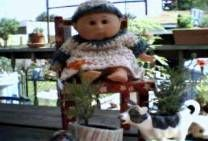 cabbage patch doll outfit. Fits any 12 inch doll. Cabbage patch dress and floppy hat