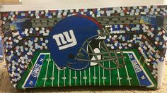 Giants football frat cooler AWAY WEEKEND sports college fraternity beach weekend New York helmet NFL