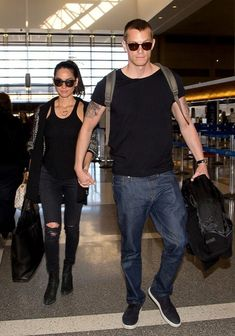 Olivia Munn and Joel Kinnaman// #travelinstyle #couplestyle